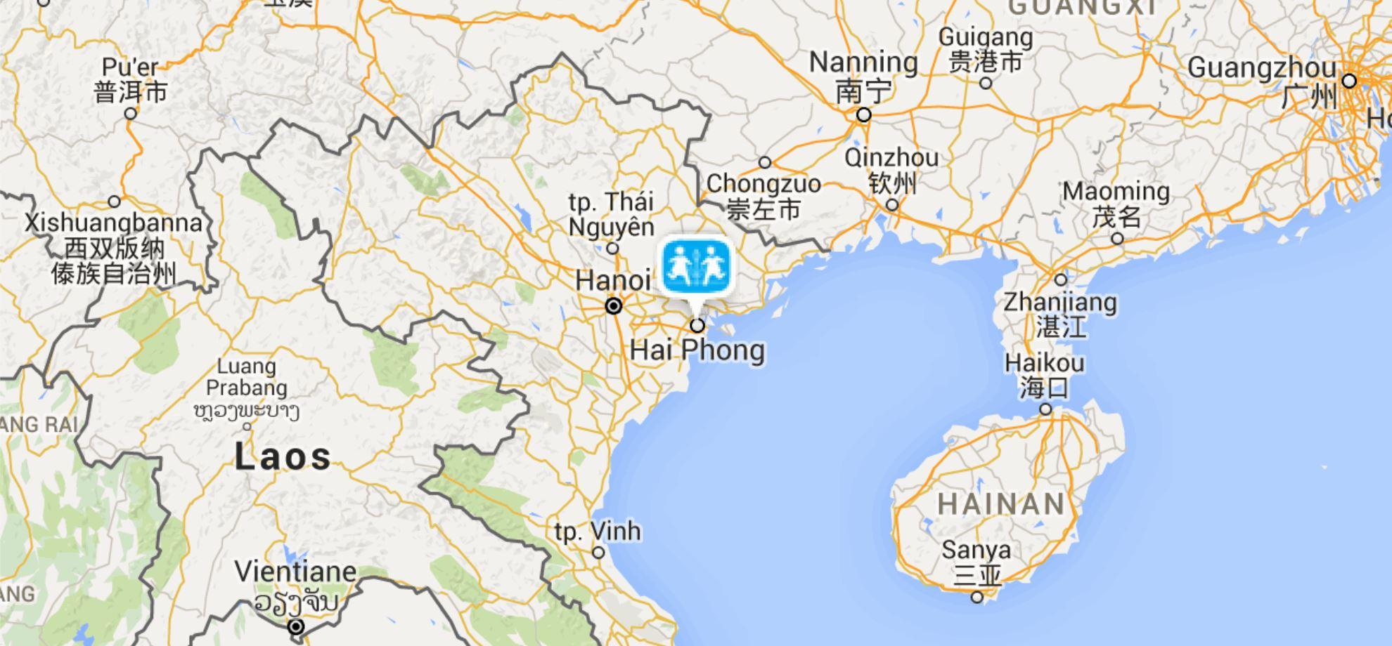 Haiphong Vietnam Map.Hai Phong Sos Barnebyer