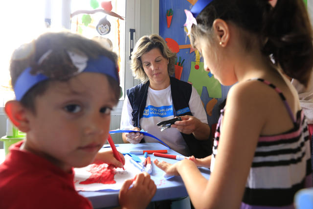 Greece/Lesbos/May 17,2018. Activities for children in Kara Tepe camp in the greek island of Lesbos. Giorgos Moutafis for SOS Children's Villages